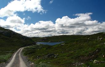 Gøystvann is one of the lakes you can fish for trouts at Hardangervidda.